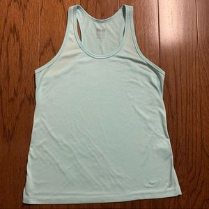 Nike Dri-Fit Racer Back Tank in Aqua Size Medium